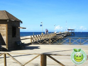 Hermosa vista del mar y muelle de Tela Honduras